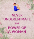 NEVER UNDERESTIMATE THE POWER OF A WOMAN - Personalised Poster large