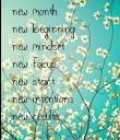 new month  new beginning new mindset new focus new start  new intentions new results - Personalised Poster large