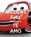 NICOLAS Feliz Aniversário TE AMO - Personalised Poster small