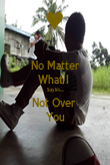 No Matter What I  Say Im.... Not Over  You - Personalised Poster large