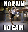 NO PAIN NO GAIN  - Personalised Poster large