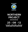 NORTHERN PROJECT \0/\0/\0/\0/ 25 - 08 - 12 \0/\o/\O/\o/\0/ - Personalised Poster large