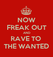 NOW FREAK OUT AND RAVE TO  THE WANTED - Personalised Poster large