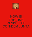 NOW IS THE TIME TO RESIST THE CON-DEM JUNTA - Personalised Poster large