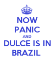 NOW PANIC AND DULCE IS IN BRAZIL  - Personalised Poster large