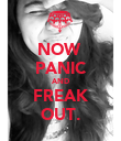 NOW  PANIC AND FREAK OUT. - Personalised Poster large