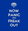 NOW PANIC AND FREAK OUT - Personalised Poster large