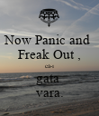 Now Panic and  Freak Out , că-i gata  vara. - Personalised Poster large
