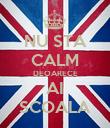 NU STA CALM DEOARECE AI SCOALA - Personalised Poster large