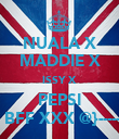 NUALA X MADDIE X ISSY X PEPSI = BFF XXX @}------- - Personalised Poster large