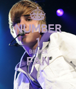 NUMBER 1 BIEBER FAN  - Personalised Poster large