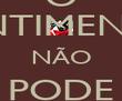 O SENTIMENTO NÃO PODE PARAR - Personalised Poster large