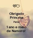 Obrigado Princesa Feliz 1 ano e meio de Namoro!  - Personalised Poster large