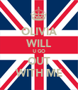 OLIVIA WILL U GO OUT WITH ME - Personalised Poster large