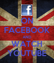 ON FACEBOOK AND WATCH YOUTUBE - Personalised Poster large
