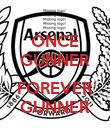 ONCE GUNNER  FOREVER GUNNER - Personalised Poster large