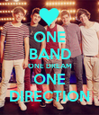 ONE BAND ONE DREAM ONE DIRECTION - Personalised Poster large