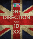 ONE  DIRECTION AKA 1D XX - Personalised Poster large