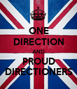 ONE DIRECTION AND PROUD DIRECTIONERS - Personalised Poster large