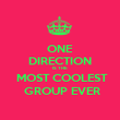 ONE DIRECTION IS THE   MOST COOLEST  GROUP EVER - Personalised Poster large