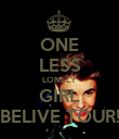 ONE LESS LONELY GIRL BELIVE TOUR! - Personalised Poster large