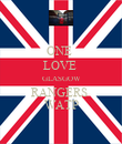 ONE  LOVE  GLASGOW RANGERS  WATP - Personalised Poster large