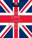 ONE  LOVE  GLASGOW RANGERS  WATP - Personalised Poster large