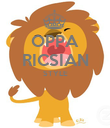 OPPA RICSIAN STYLE   - Personalised Poster large