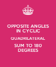 OPPOSITE ANGLES IN CYCLIC QUADRILATERAL SUM TO 180 DEGREES - Personalised Poster large