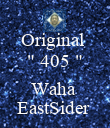 "Original  "" 405 ""  Waha  EastSider  - Personalised Poster large"