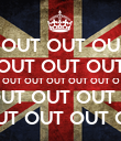 OUT OUT OU OUT OUT OUT OUT OUT OUT OUT OUT O OUT OUT OUT O OUT OUT OUT OU - Personalised Large Wall Decal