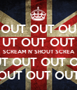 OUT OUT OU UT OUT OUT SCREAM N' SHOUT SCREA OUT OUT OUT OUT OUT OUT OUT OUT OUT - Personalised Poster large