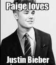 Paige loves  Justin Bieber - Personalised Poster large