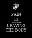 PAIN IS WEAKNESS LEAVING THE BODY - Personalised Poster large