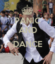 PANIC AND  DANCE  - Personalised Poster large
