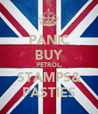PANIC BUY PETROL, STAMPS& PASTIES - Personalised Poster large