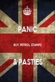 PANIC  BUY PETROL STAMPS  & PASTIES - Personalised Poster large