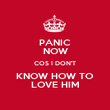 PANIC NOW COS I DON'T KNOW HOW TO LOVE HIM - Personalised Poster large