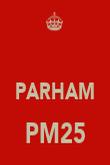 PARHAM PM25  - Personalised Poster large