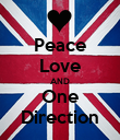 Peace Love AND One Direction - Personalised Poster large