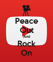 Peace Out And Rock On - Personalised Poster large