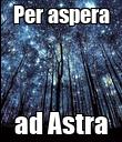 Per aspera ad Astra - Personalised Poster large