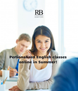 Personalized English classes online in Summer! - Personalised Poster large