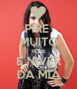 PIRE  MUITO HOJE É NIVER DA MIA - Personalised Poster large