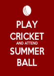 PLAY CRICKET AND ATTEND SUMMER BALL - Personalised Poster large