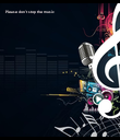 Please don't stop the music - Personalised Poster large