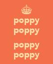 poppy poppy  poppy poppy - Personalised Poster large
