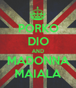 PORKO DIO AND MADONNA MAIALA - Personalised Poster large