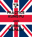 PRACTICE  KUNG FU AND DRINK NAPALM - Personalised Poster large