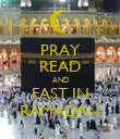 PRAY READ AND FAST IN RAMADAN - Personalised Poster large
